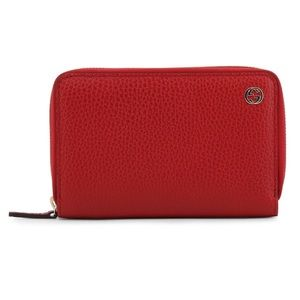 Gucci Interlocking G Zip Wallet Clutch Card Case